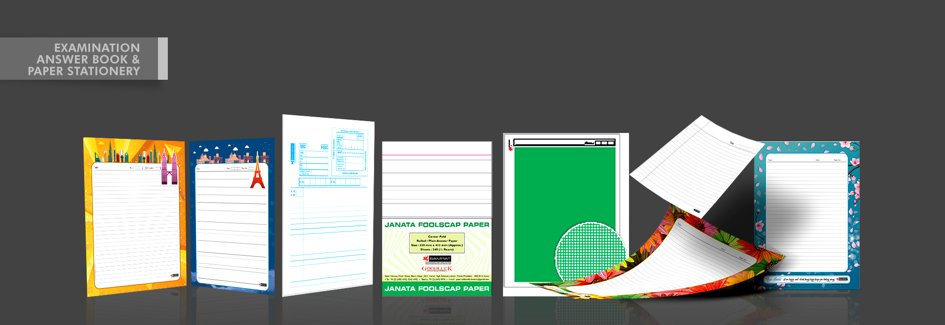 EXAMINATION ANSWER BOOK & PAPER STATIONERY
