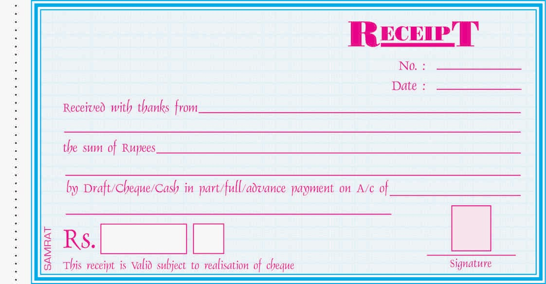 Duplicate Receipt Book