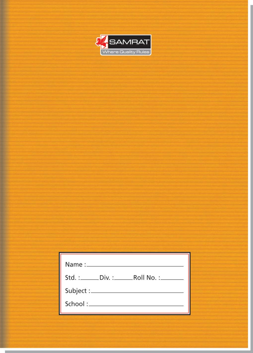 A/5 Brown Cover Deluxe Book