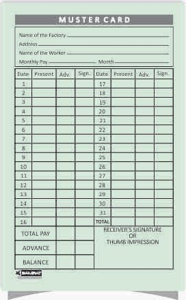 Regular Muster Cards